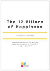 12 pillars of happiness by Happiness Academy